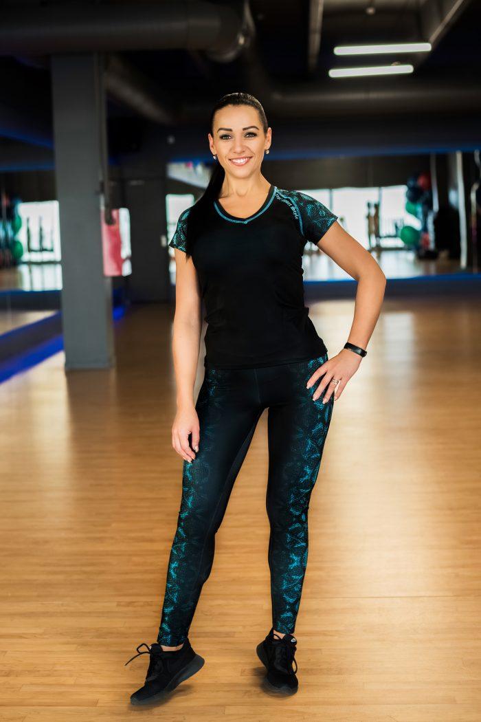 tamprės, sportinė palaidinė, leggings
