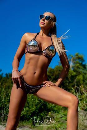 sequin bikini, maudymosi kostiumėlis