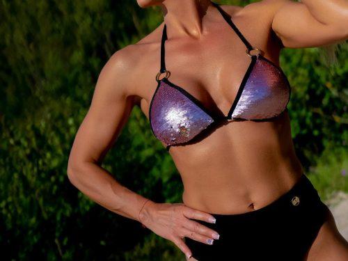 bikini highwaistpanties, sequinbikini, maudymosi kostiumėlis